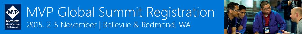 Microsoft MVP Global Summit 2015 Banner