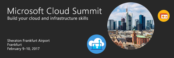 Microsoft Cloud Summit Frankfurt